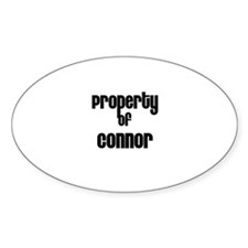 Property of Connor Oval Decal