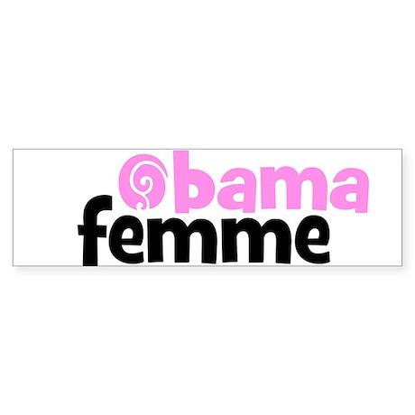 Obama Woman, French, Bumper Sticker