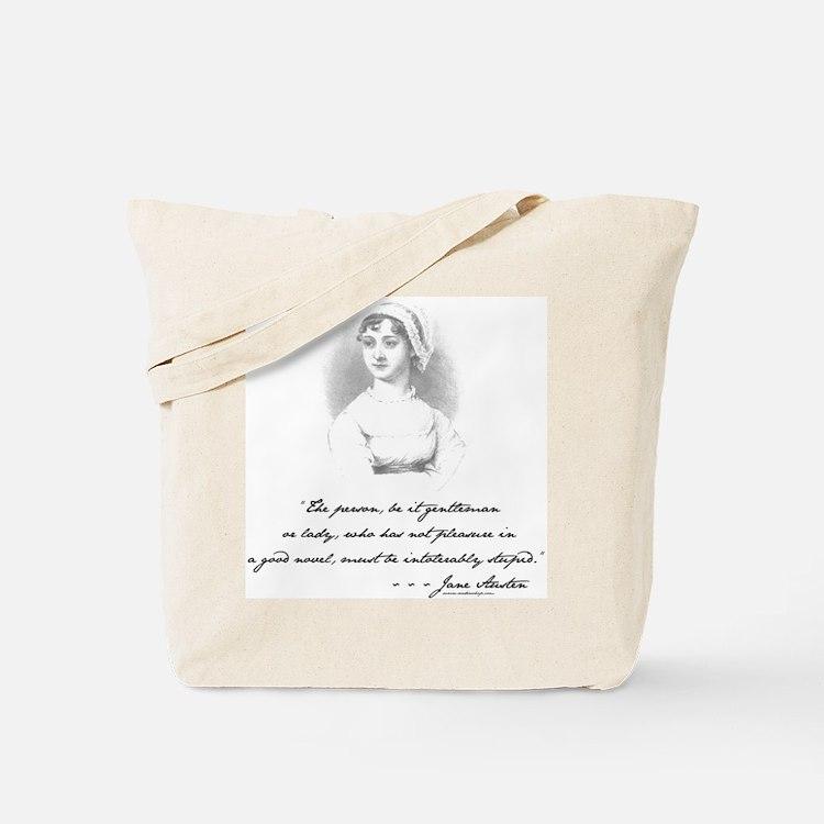 Jane Austen Attitude Tote Bag