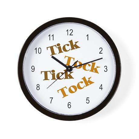 Tick Tock Wall Clock By Applepip
