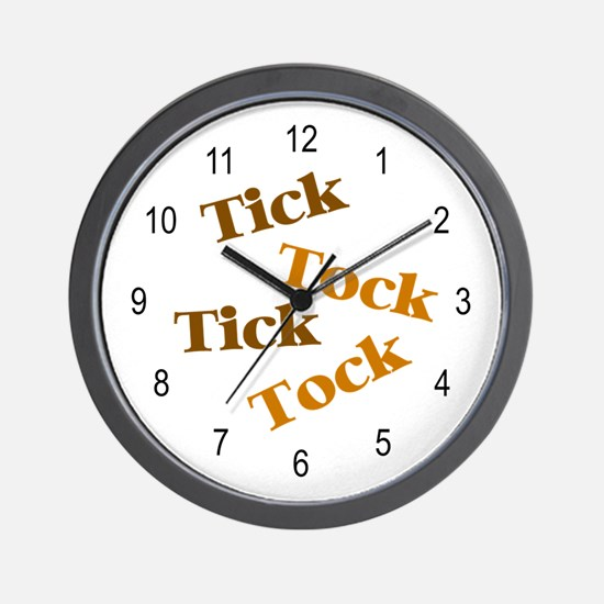 'Tick Tock' Wall Clock