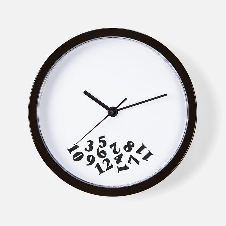 'Fallen Numbers' Wall Clock