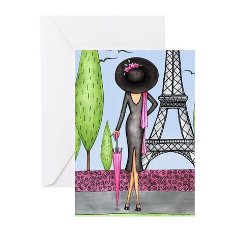 Eifel Tower Fashion Greeting Cards (Pk of 20)