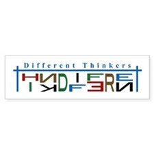 Different Thinkers Bumper Bumper Sticker