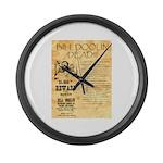 Bill Doolin Dead Large Wall Clock