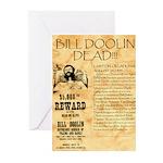 Bill Doolin Dead Greeting Cards (Pk of 20)