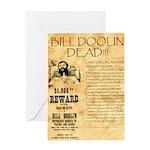 Bill Doolin Dead Greeting Card