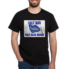 Half Man Half Blue Shark T-Shirt