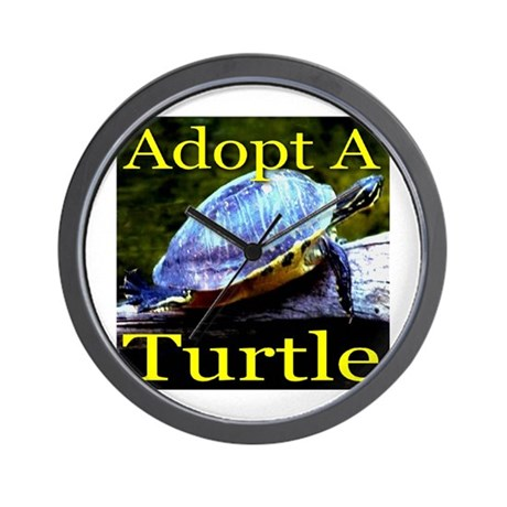 Adopt A Turtle Wall Clock