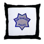 SFPD Star Throw Pillow