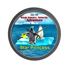 Star Antarctic Jan '09 Wall Clock