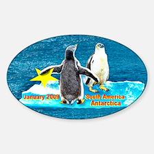 Star Antarctic Jan '09 Oval Decal