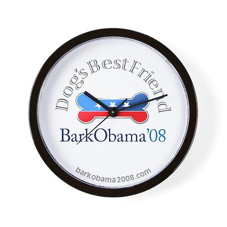 Bark Obama Dog's Best Friend Wall Clock