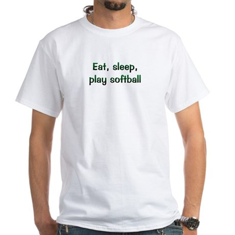 Play Softball White T-Shirt