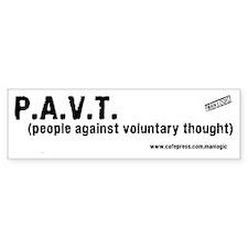 P.A.V.T. Bumper Bumper Sticker