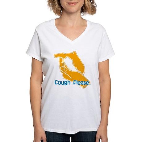 Cough Please Women's V-Neck T-Shirt