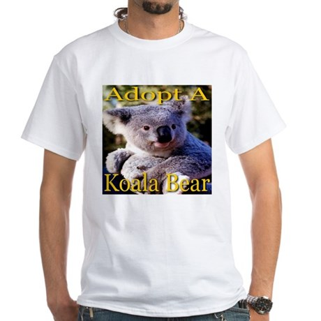 Adopt A Koala Bear White T-Shirt