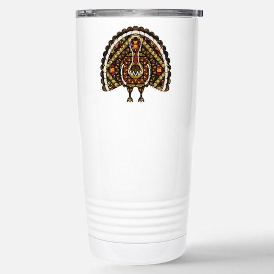 Fall Turkey Stainless Steel Travel Mug