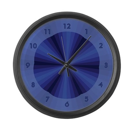 Blue Illusion Large Wall Clock