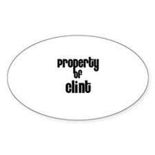 Property of Clint Oval Decal