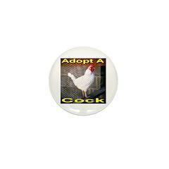 Adopt A Cock Mini Button (100 pack)