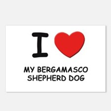 I love MY BERGAMASCO SHEPHERD DOG Postcards (Packa