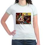 Santa's Whippet Jr. Ringer T-Shirt