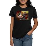 Santa's Whippet Women's Dark T-Shirt