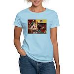 Santa's Whippet Women's Light T-Shirt