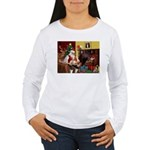 Santa's Whippet Women's Long Sleeve T-Shirt