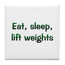 Lift Weights Tile Coaster