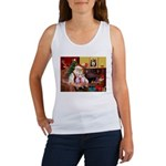 Santa & his 2 Whippets Women's Tank Top