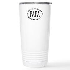 Papa The Legend Travel Coffee Mug