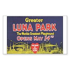 LUNA PARK NEW YORK Rectangle Decal