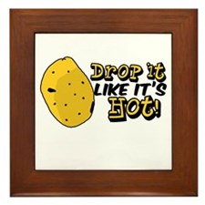 Drop it like it's hot! Framed Tile