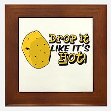Drop it like it's hot! Framed Tile