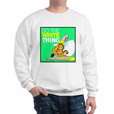 Garfield Writing Sweatshirt