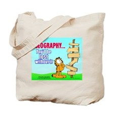 Geography Garfield Tote Bag