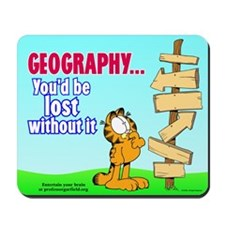Geography Garfield Mousepad