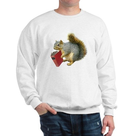 Squirrel with Book Sweatshirt