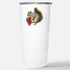 Squirrel with Book Travel Mug