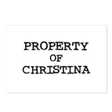Property of Christina Postcards (Package of 8)