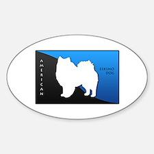 American Eskimo Dog Oval Decal