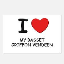 I love MY BASSET GRIFFON VENDEEN Postcards (Packag