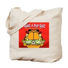 Pop Quiz Garfield Tote Bag