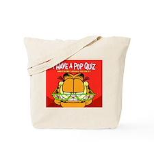 Pop Quiz Garfield Tote Bag