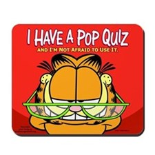 Pop Quiz Garfield Mousepad