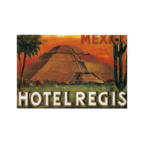 HOTEL REGIS MEXICO Rectangle Magnet (100 pack)