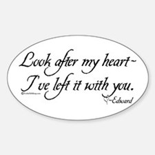 Look After My Heart Oval Decal