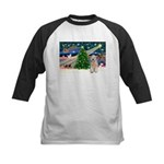 XmasMagic/Wheaten (#5) Kids Baseball Jersey